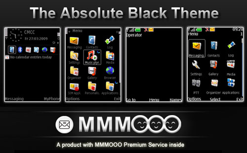 Absolute black theme