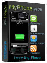 MyPhone v2.20 launched with iSMS and easy to add 3rd part apps functions