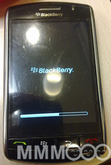 blackberry storm os .191 start screen
