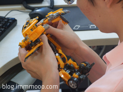 Our CTO playing with the Transformer model