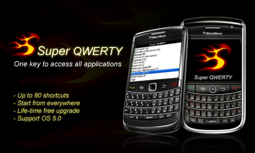 Super QWERTY, one key to access all applications